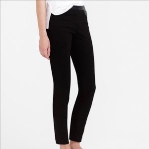 J. Crew | Skinny Pants with Faux Leather Trim
